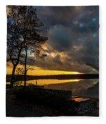 Sunset Reflection Fleece Blanket