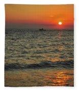 Sunset Ride Cape May Point Nj Fleece Blanket