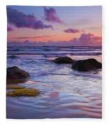 Sunset Ripples Fleece Blanket