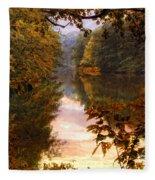 Sunset River View Fleece Blanket