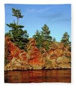 Sunset Rock Fleece Blanket