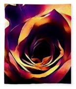Sunset Rose Fleece Blanket