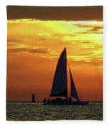 Sunset Sail Away Fleece Blanket