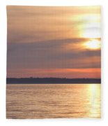 Sunset Sail Fleece Blanket
