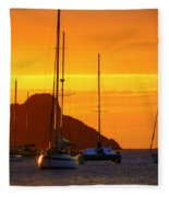 Sunset Sails Fleece Blanket
