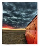 Sunset Saskatchewan Canada Fleece Blanket
