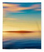 Sunset Seascape Island Fleece Blanket