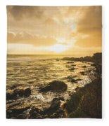 Sunset Seascape Fleece Blanket