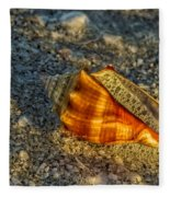Sunset Seashell Fleece Blanket