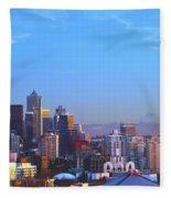 Sunset Seattle Fleece Blanket