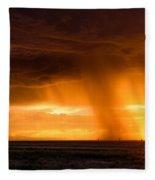 Sunset Shower Fleece Blanket