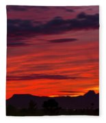 Sunset Silhouette H1816 Fleece Blanket