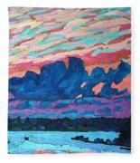 Sunset Snails Fleece Blanket