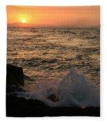 Sunset Splash Fleece Blanket