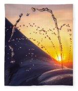 Sunset Spout 0017 Fleece Blanket