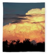 Sunset Storm Clouds Over The Marsh Fleece Blanket