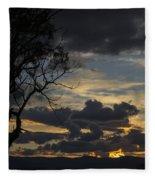 Sunset Study 1 Fleece Blanket