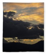 Sunset Study 5 Fleece Blanket