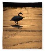 Sunset Swan Fleece Blanket