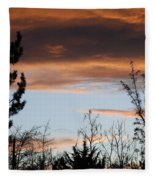 Sunset Thru The Trees Fleece Blanket