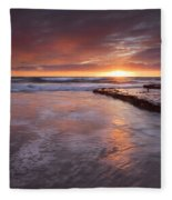 Sunset Tides Fleece Blanket