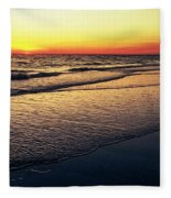 Sunset Time On Sunset Beach Fleece Blanket