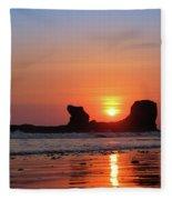 Sunset To Remeber  Fleece Blanket