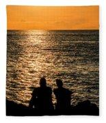 Sunset Together In Key West Fleece Blanket