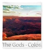 Sunset Tour Valley Of The Gods Utah Pan 09 Text Fleece Blanket