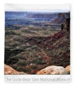 Sunset Tour Valley Of The Gods Utah Text 04 Fleece Blanket