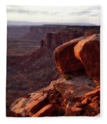 Sunset Tour Valley Of The Gods Utah Vertical 01 Fleece Blanket