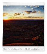 Sunset Valley Of The Gods Utah 11 Text Fleece Blanket