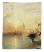 Sunset Venice Fleece Blanket
