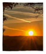 Sunset Vienna West Virginia Fleece Blanket