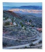 Sunset View From Jerome Arizona Fleece Blanket