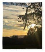 Sunset View From Olana  Fleece Blanket
