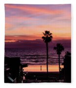Sunset Walker Fleece Blanket