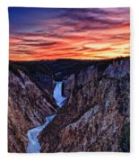 Sunset Waterfall Fleece Blanket