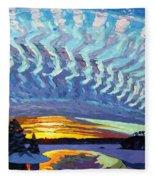 Sunset Waves Nite Fleece Blanket