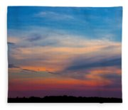 Sunset Windsor Illinois Fleece Blanket