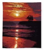Sunset - Wonder Of Nature Fleece Blanket