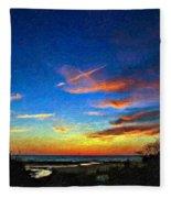 Sunset X Impasto Fleece Blanket