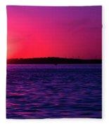 Sunsets Happen Fleece Blanket