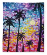 Sunsets In Florida Fleece Blanket