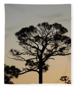 Sunsetting Thru The Trees Fleece Blanket