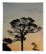 Sunsetting Trees Fleece Blanket