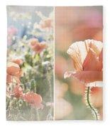 Sunshine And Poppies Fleece Blanket