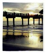 Sunshine At The Pier 60 Fleece Blanket