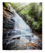Sunshine At The Waterfall Fleece Blanket
