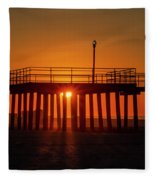Sunshine At Wildwood Crest Pier Fleece Blanket